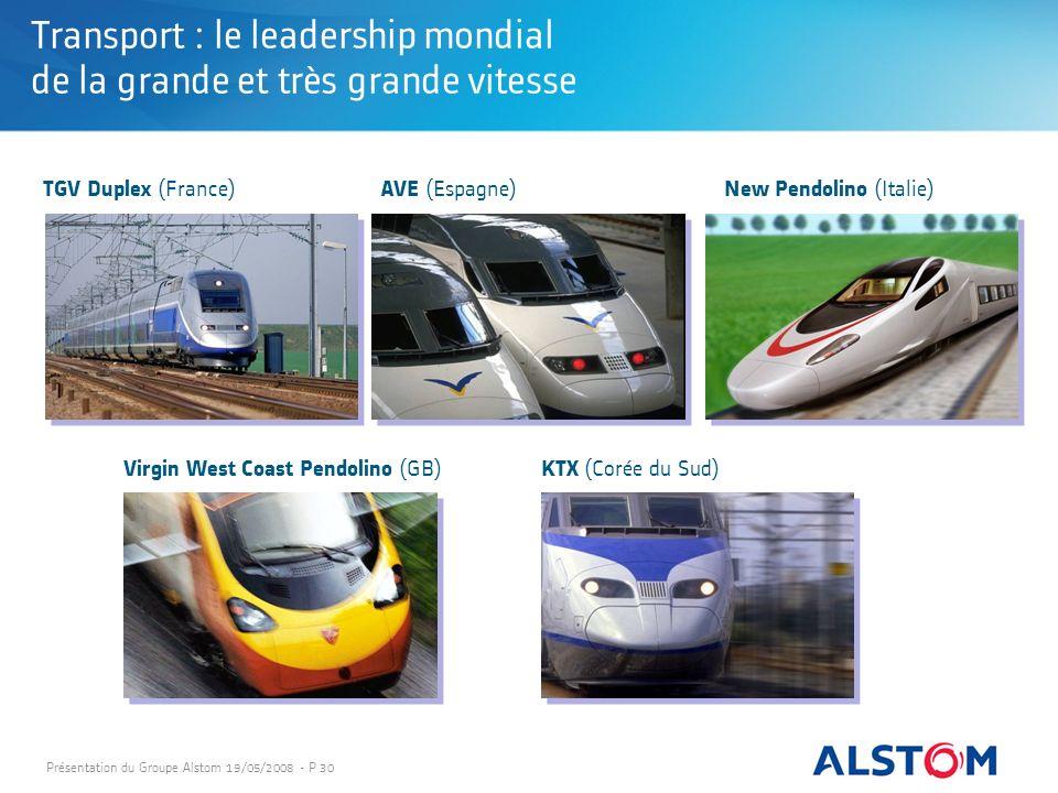 Transport : le leadership mondial de la grande et très grande vitesse