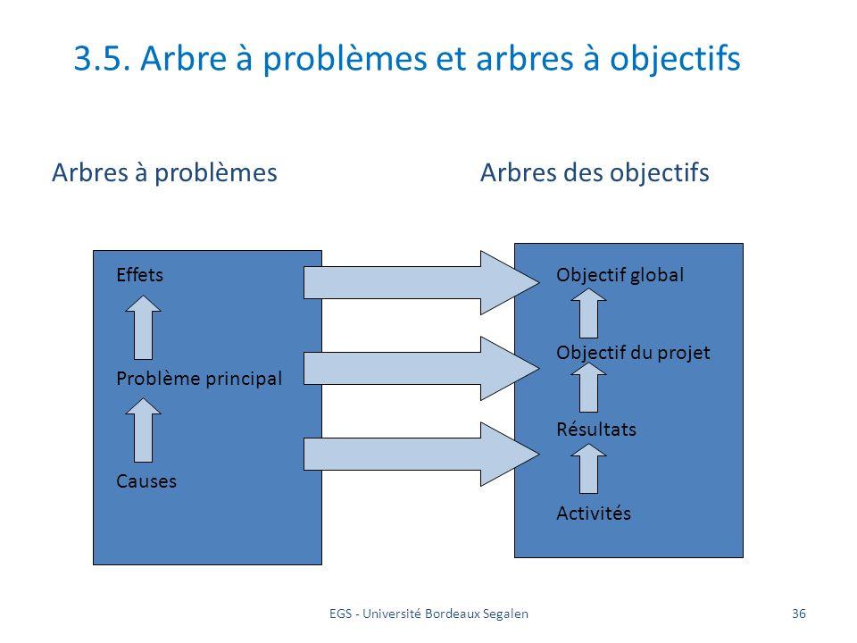 3.5. Arbre à problèmes et arbres à objectifs