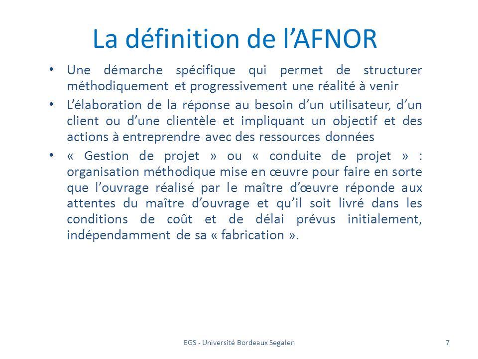 La définition de l'AFNOR