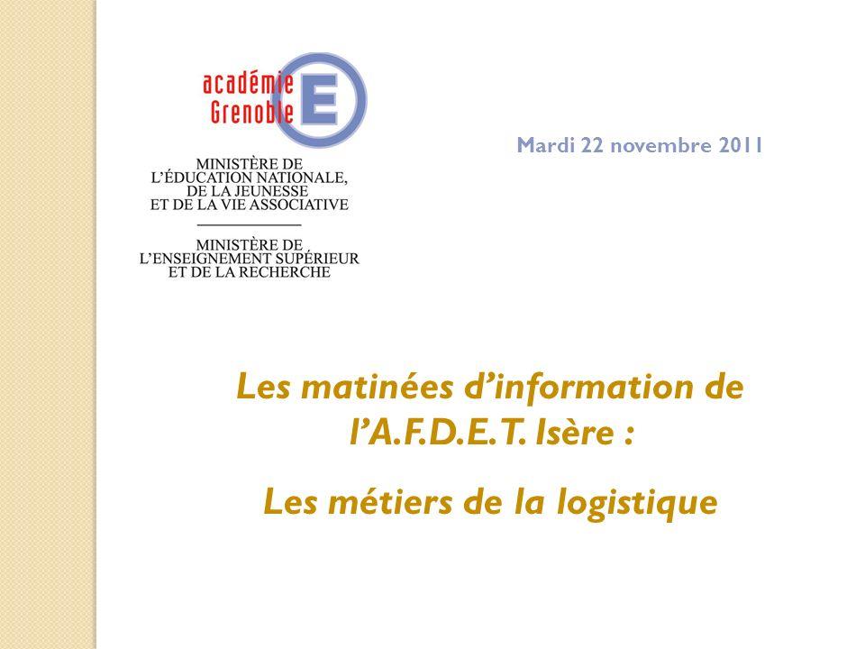 Les matinées d'information de l'A.F.D.E.T. Isère :
