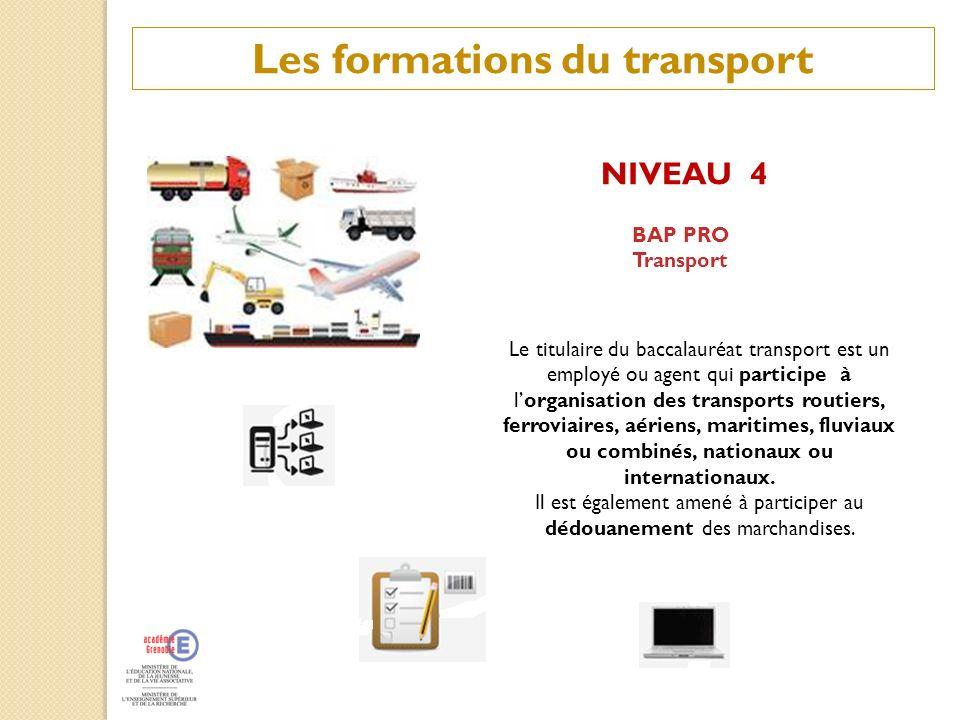 Les formations du transport