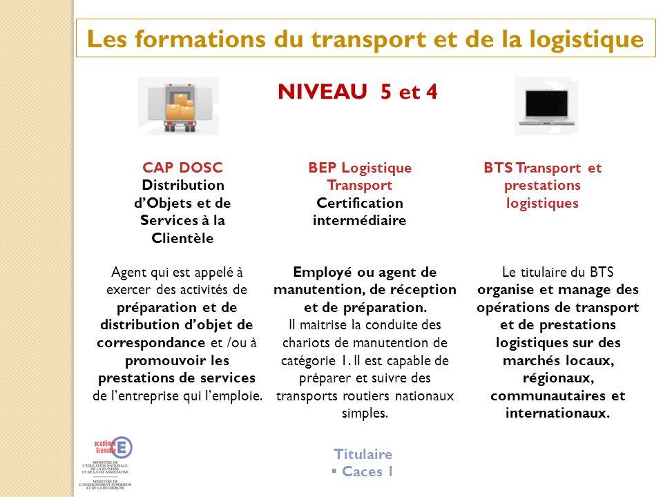 Les formations du transport et de la logistique