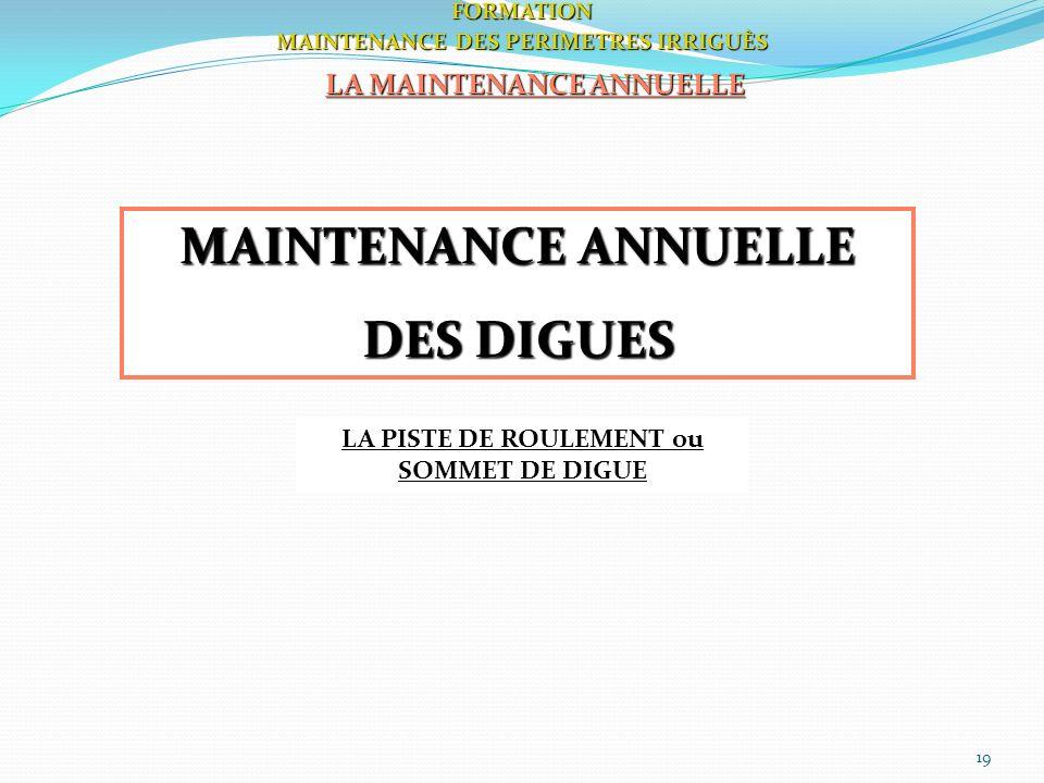 MAINTENANCE ANNUELLE DES DIGUES