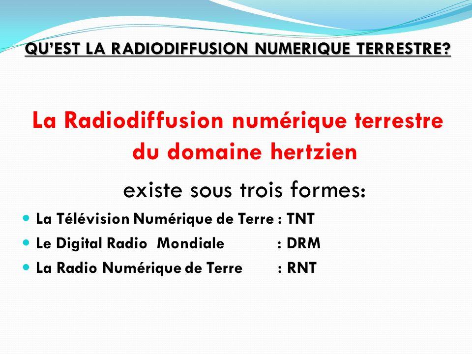 La Radiodiffusion numérique terrestre du domaine hertzien