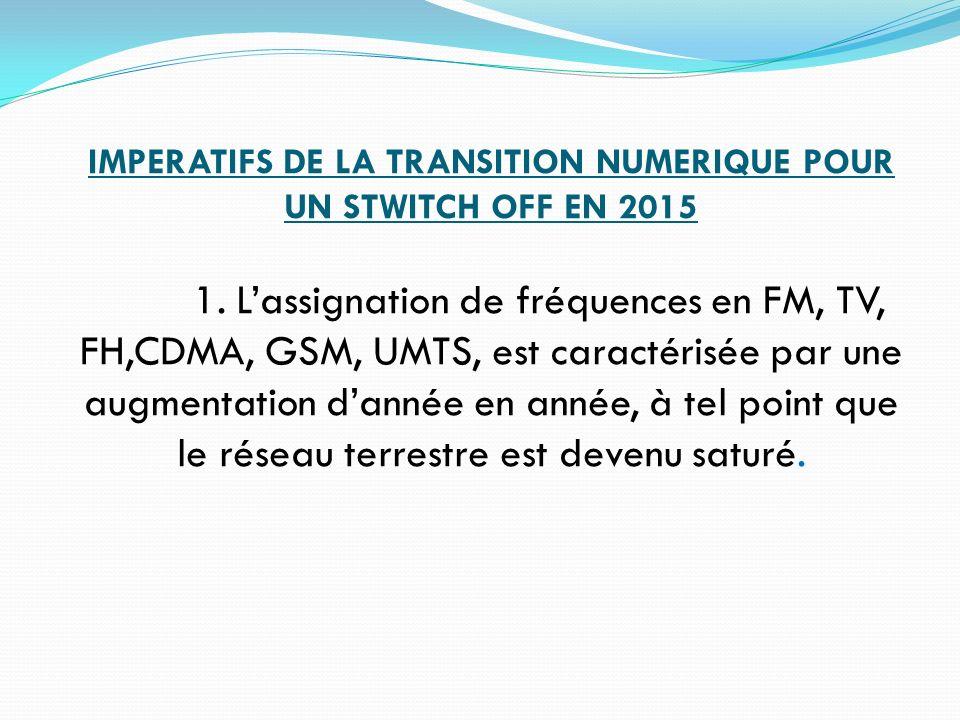 IMPERATIFS DE LA TRANSITION NUMERIQUE POUR UN STWITCH OFF EN 2015. 1