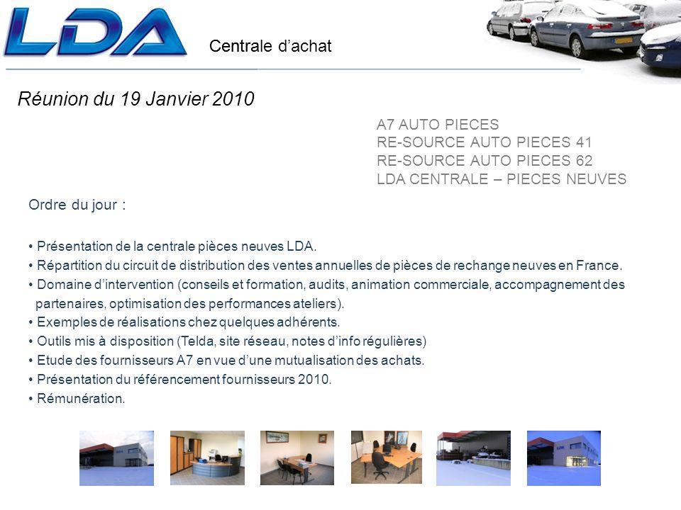 Réunion du 19 Janvier 2010 A7 AUTO PIECES RE-SOURCE AUTO PIECES 41
