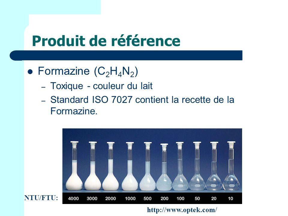 Produit de référence Formazine (C2H4N2) Toxique - couleur du lait