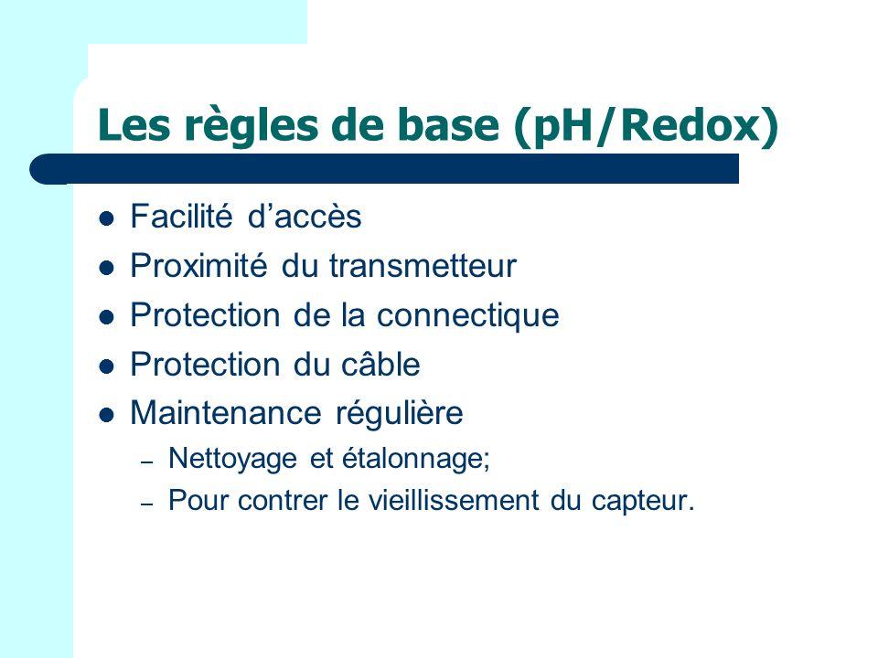 Les règles de base (pH/Redox)