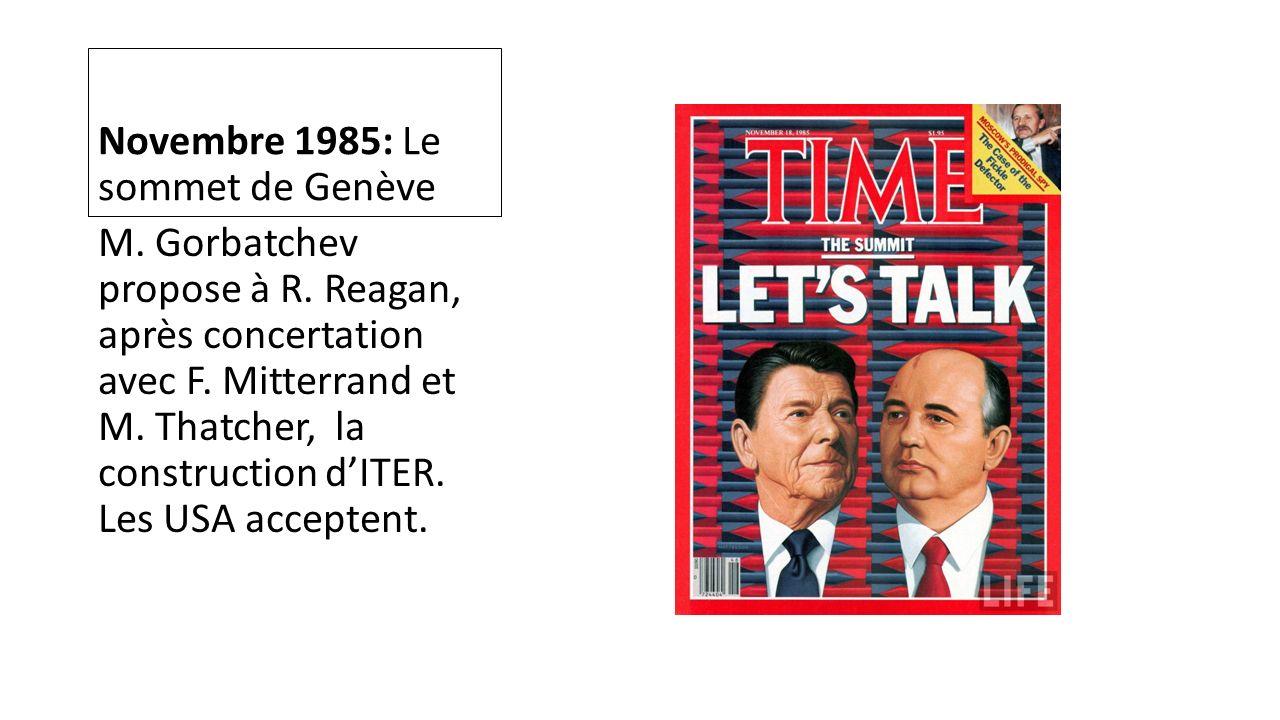 Novembre 1985: Le sommet de Genève