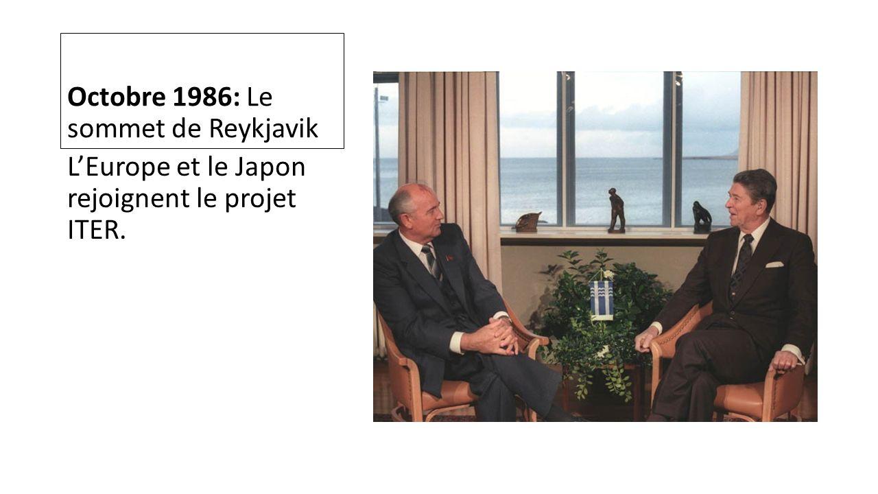 Octobre 1986: Le sommet de Reykjavik