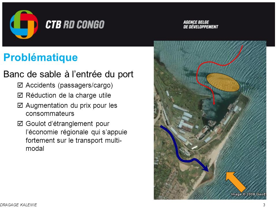 Problématique Banc de sable à l'entrée du port