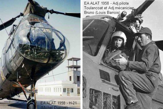 EA ALAT 1958 - Adj pilote Toulancoat et Adj mécanicien Bruno (Louis Barrois)
