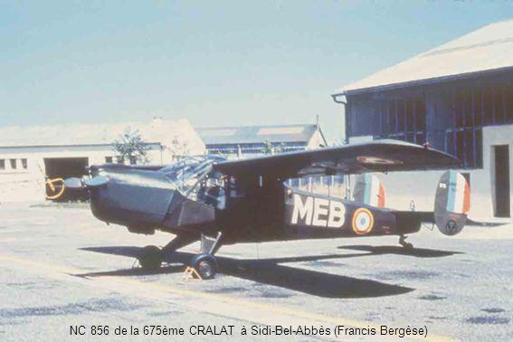 NC 856 de la 675ème CRALAT à Sidi-Bel-Abbès (Francis Bergèse)