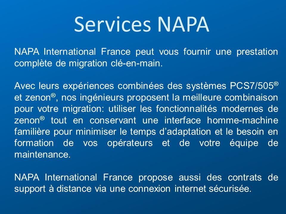 Services NAPA NAPA International France peut vous fournir une prestation complète de migration clé-en-main.