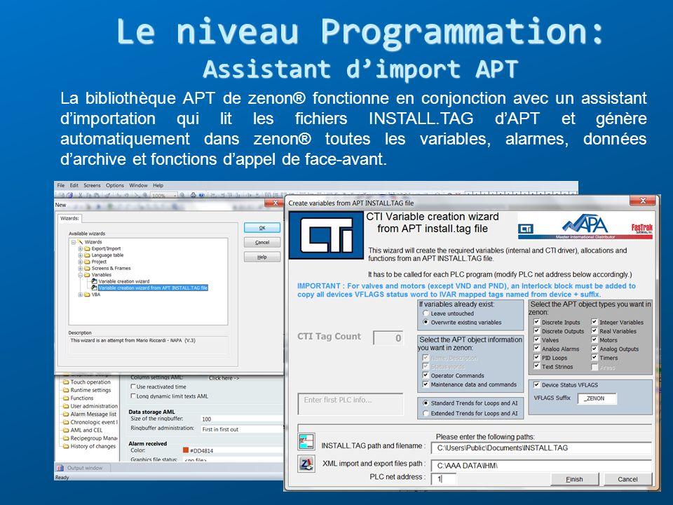 Le niveau Programmation: Assistant d'import APT