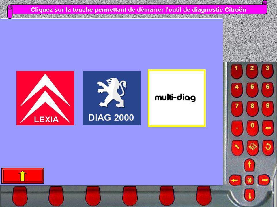 Cliquez sur la touche permettant de démarrer l outil de diagnostic Citroën
