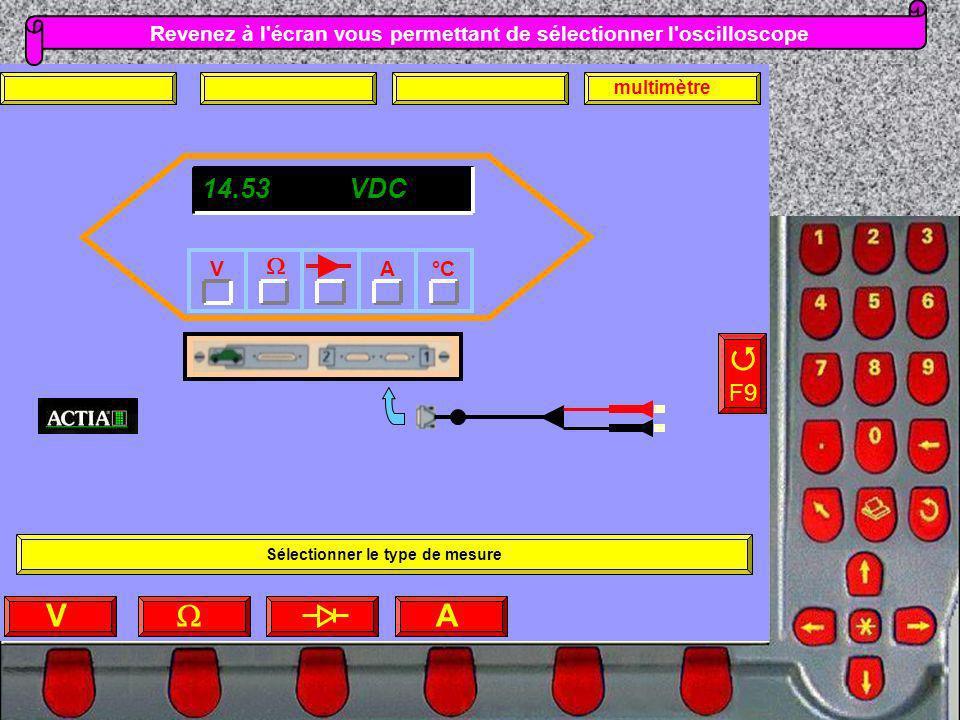 Revenez à l écran vous permettant de sélectionner l oscilloscope