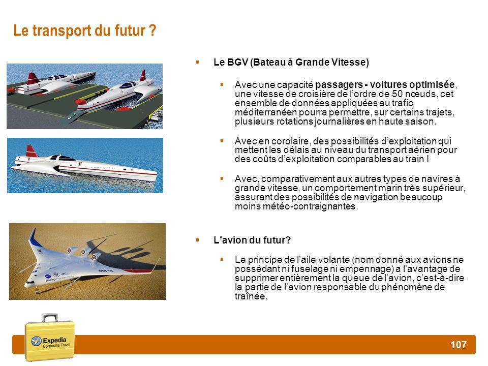 Le transport du futur Le BGV (Bateau à Grande Vitesse)