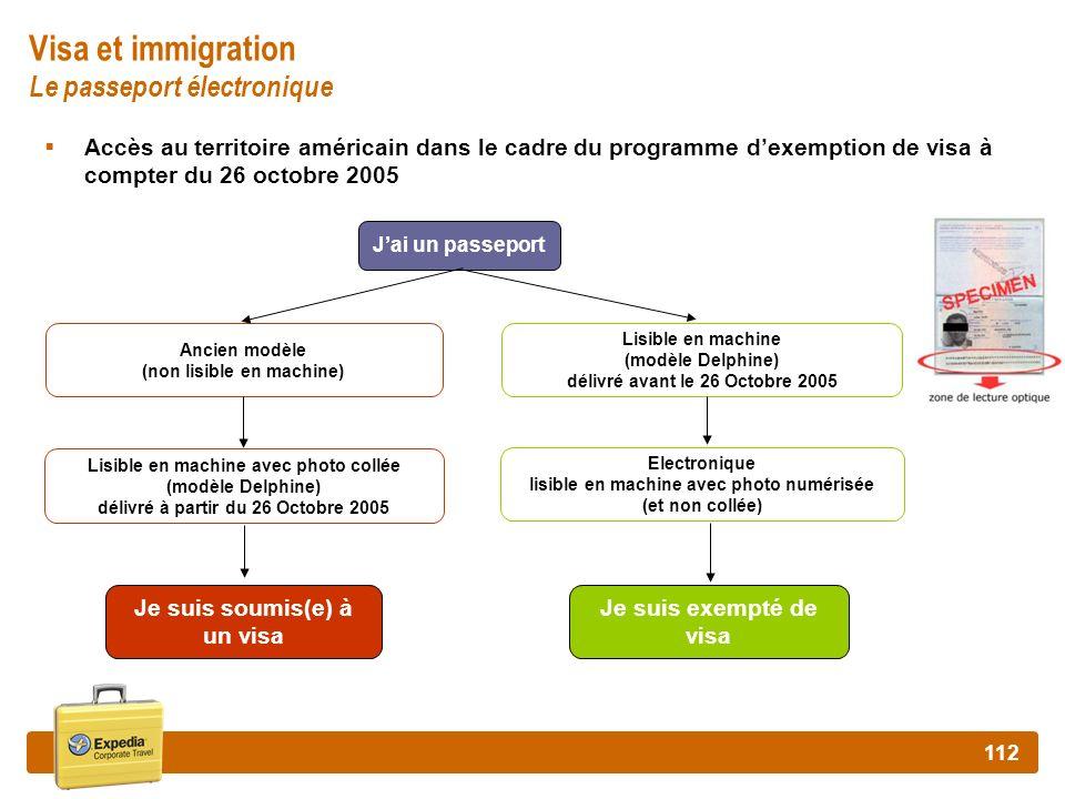 Visa et immigration Le passeport électronique