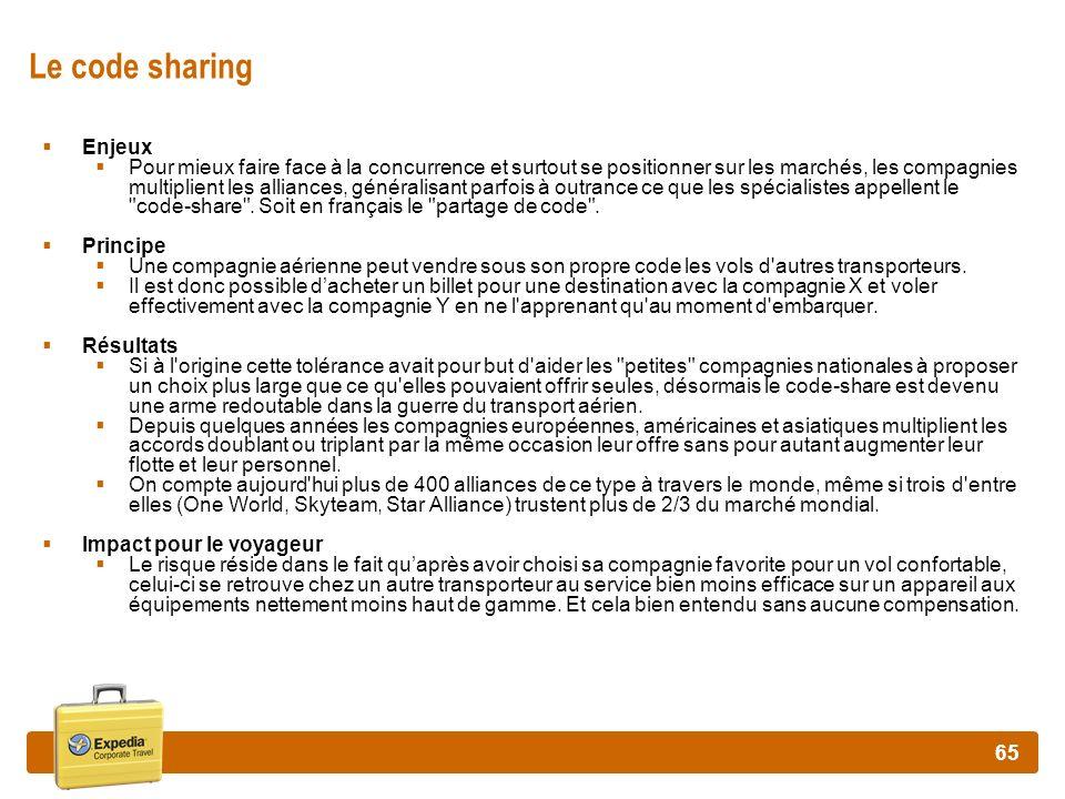 Le code sharing Enjeux.
