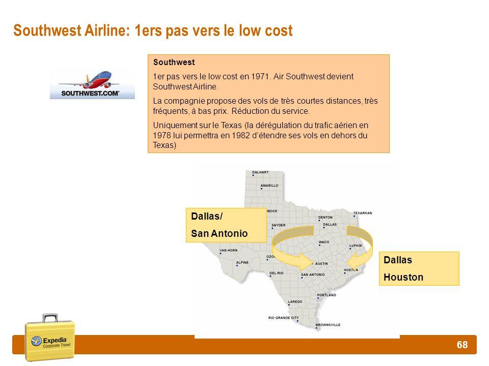 Southwest Airline: 1ers pas vers le low cost