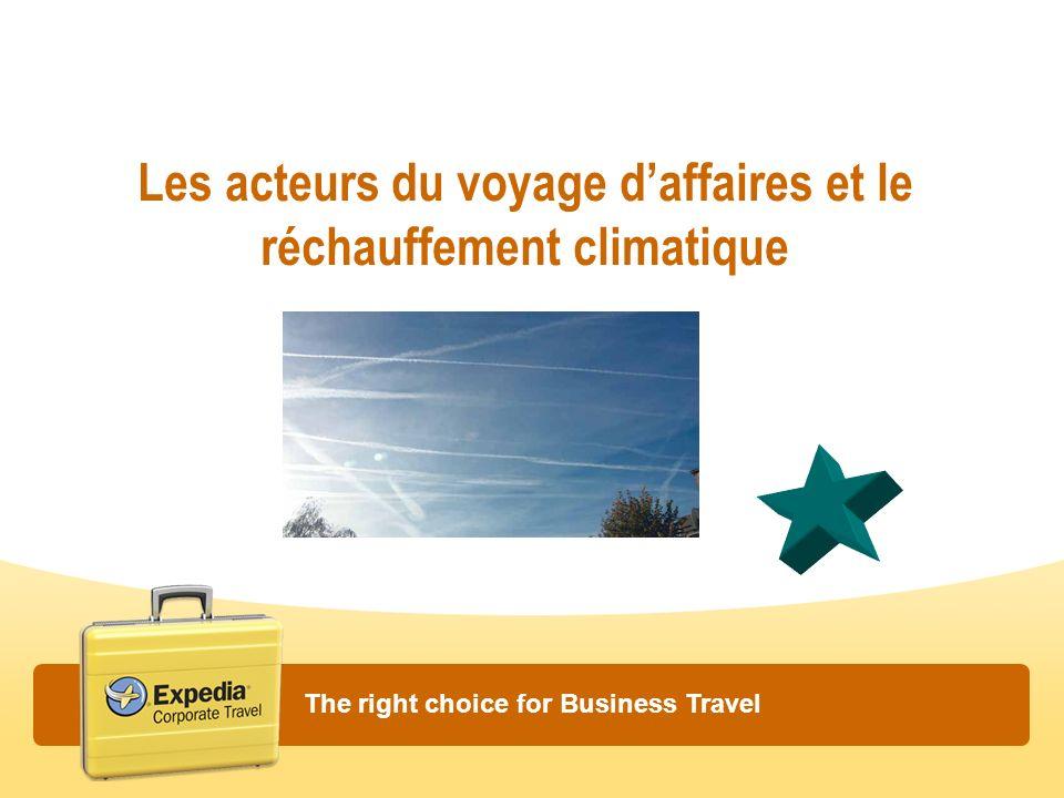 Les acteurs du voyage d'affaires et le réchauffement climatique