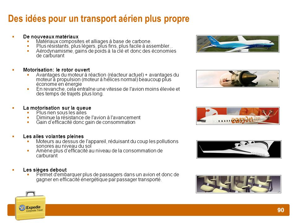 Des idées pour un transport aérien plus propre