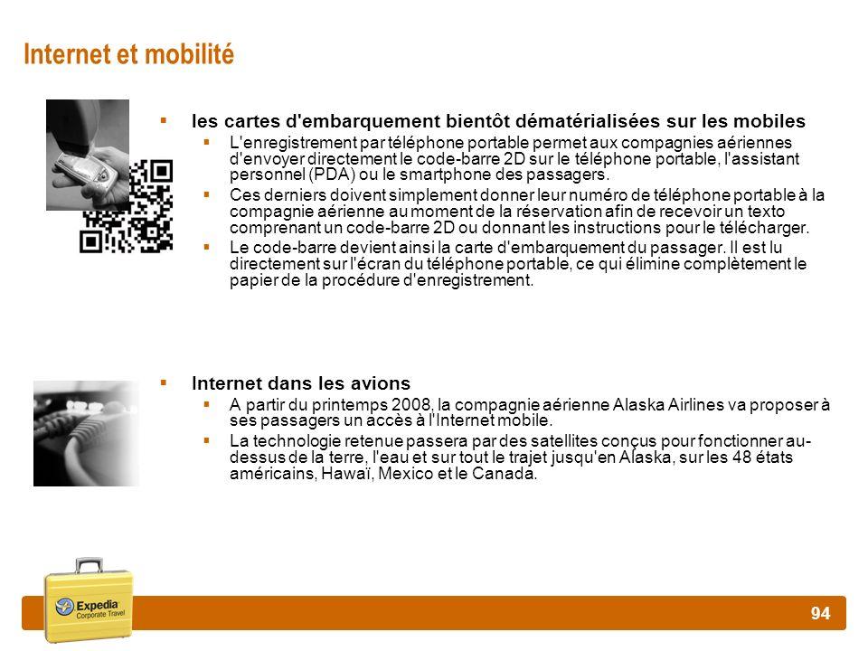 Internet et mobilité les cartes d embarquement bientôt dématérialisées sur les mobiles.
