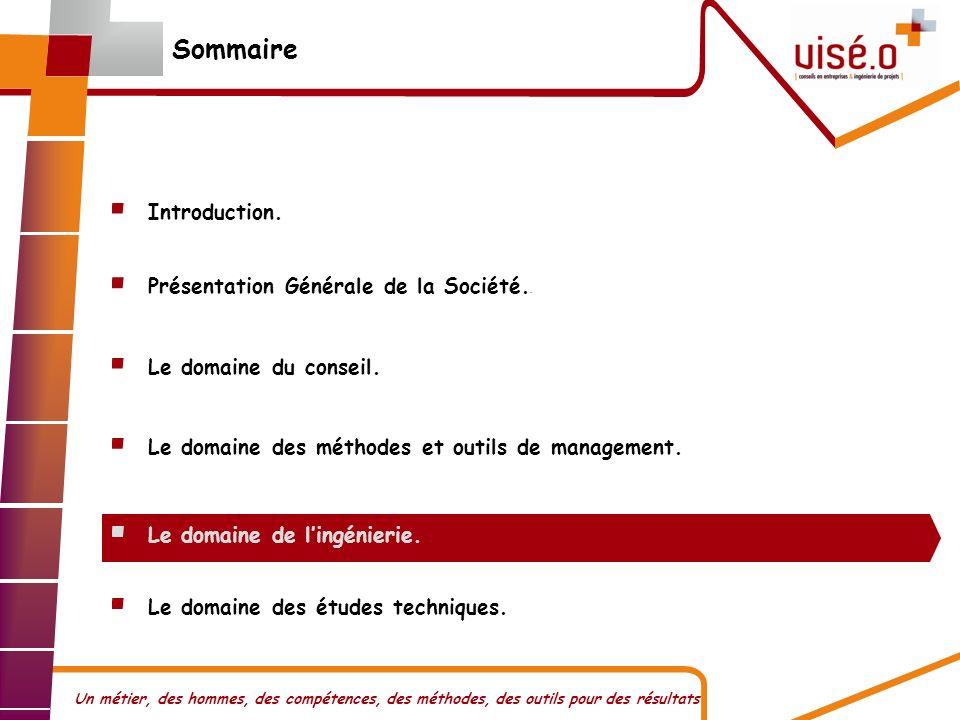 Sommaire Introduction. Présentation Générale de la Société..