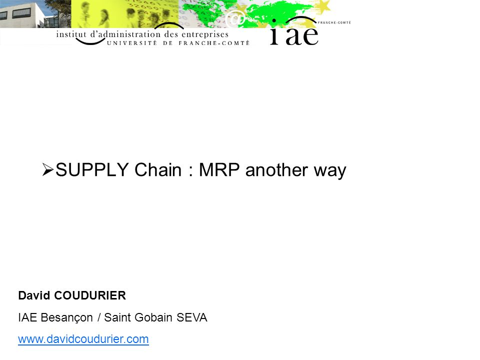 SUPPLY Chain : MRP another way