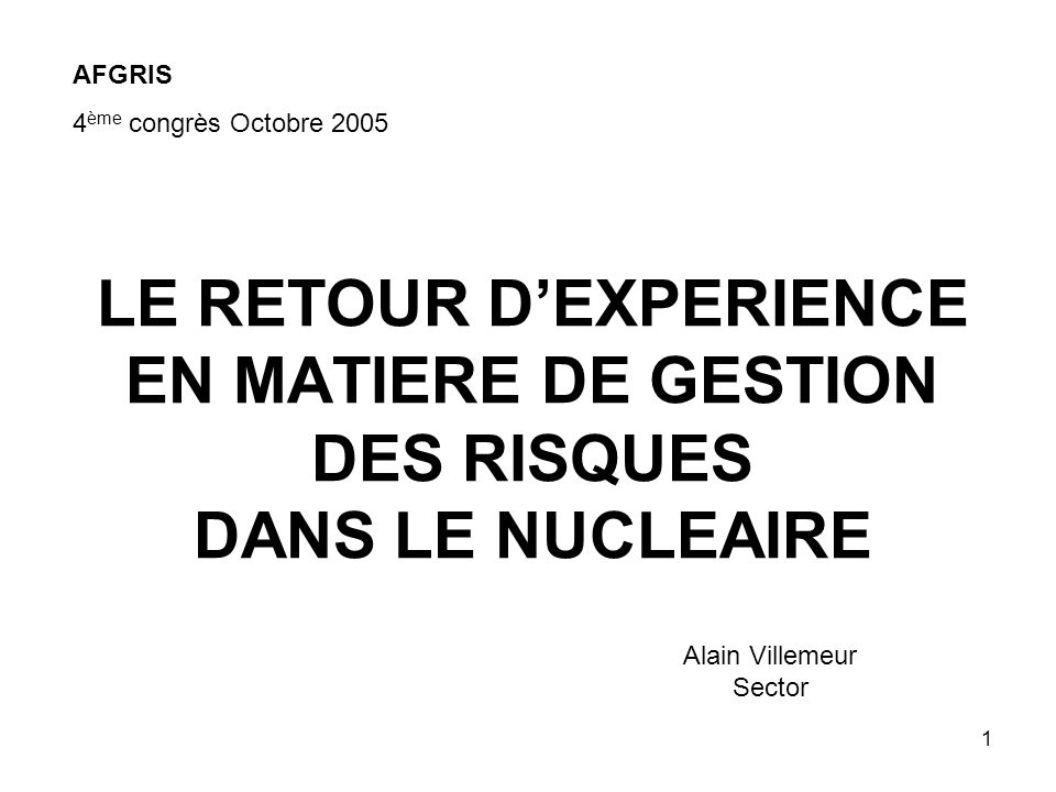 Alain Villemeur Sector