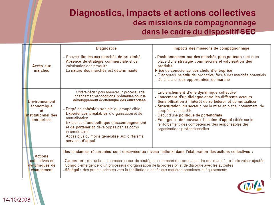 Diagnostics, impacts et actions collectives des missions de compagnonnage dans le cadre du dispositif SEC
