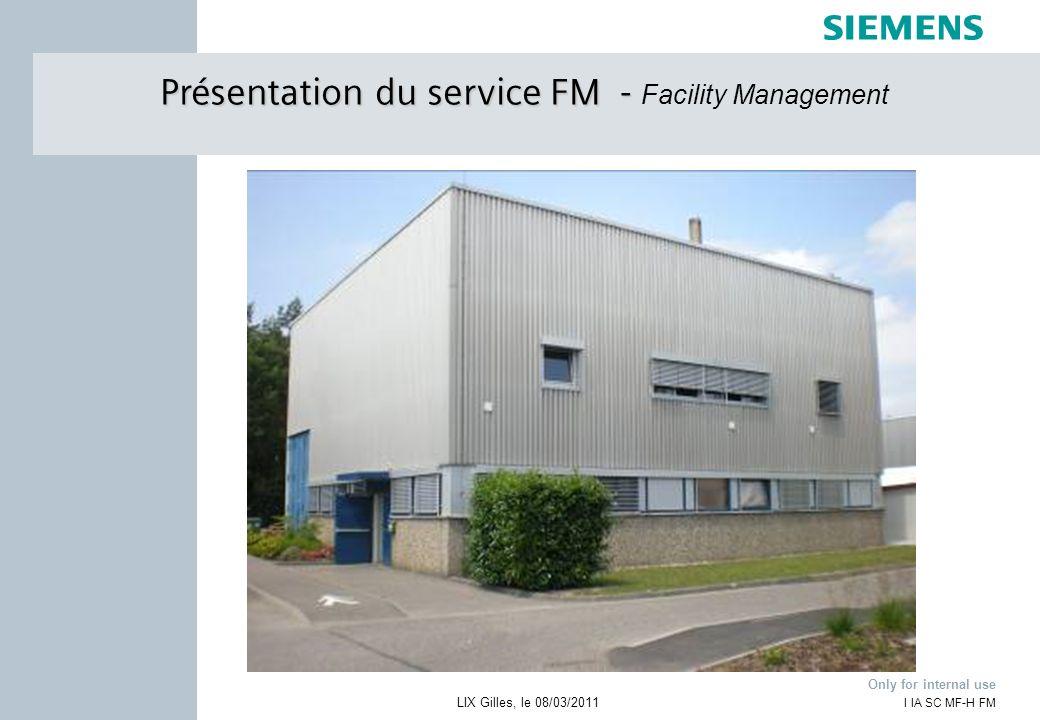 Présentation du service FM - Facility Management