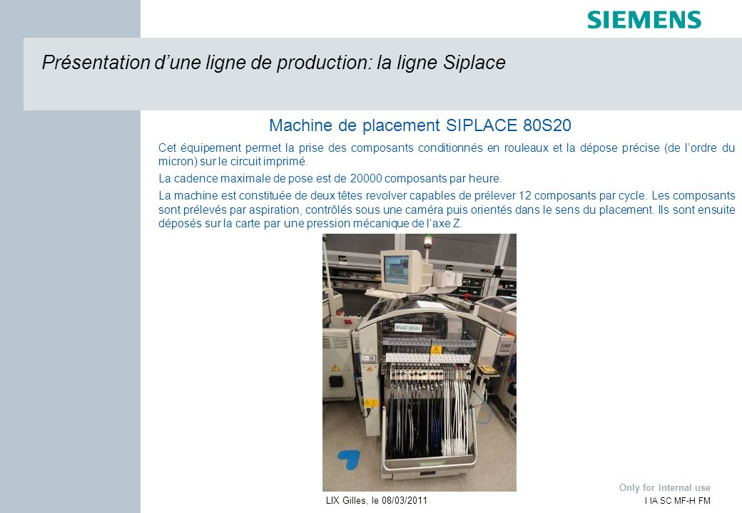 Machine de placement SIPLACE 80S20