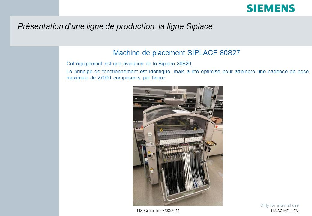 Machine de placement SIPLACE 80S27
