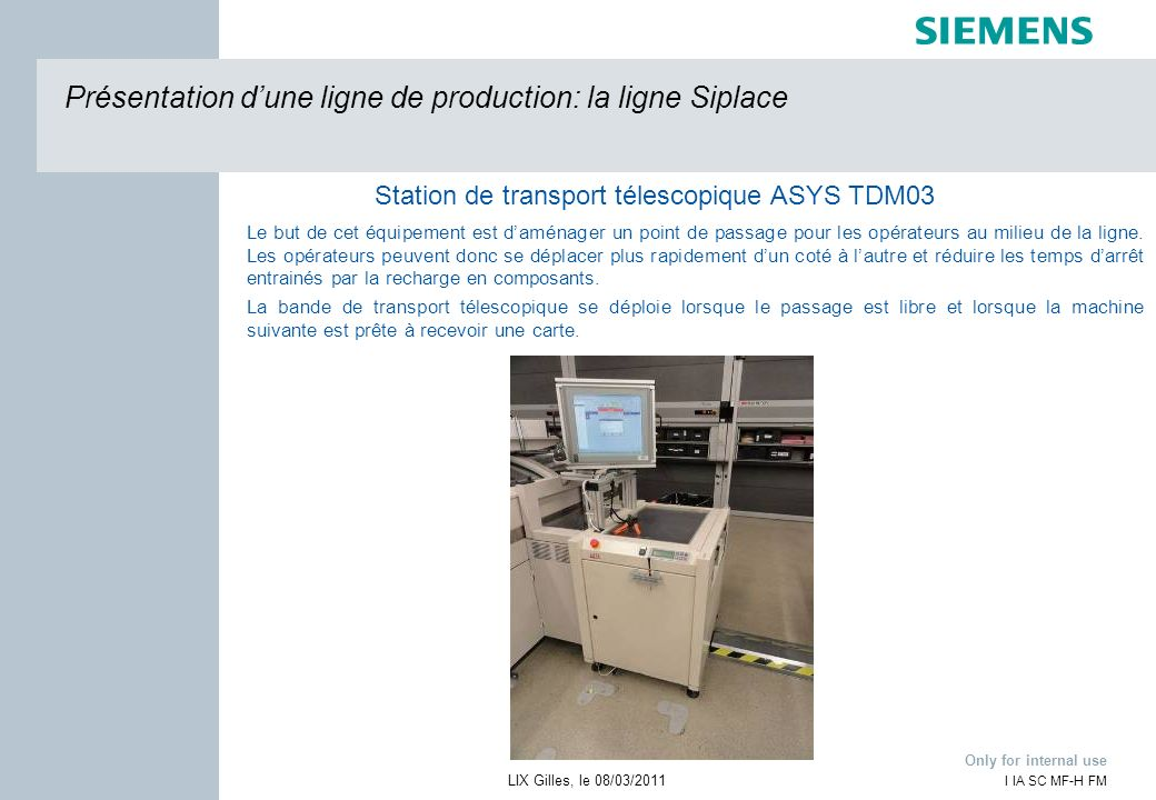 Station de transport télescopique ASYS TDM03