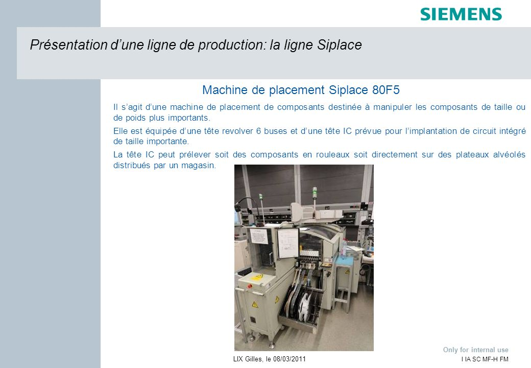 Machine de placement Siplace 80F5