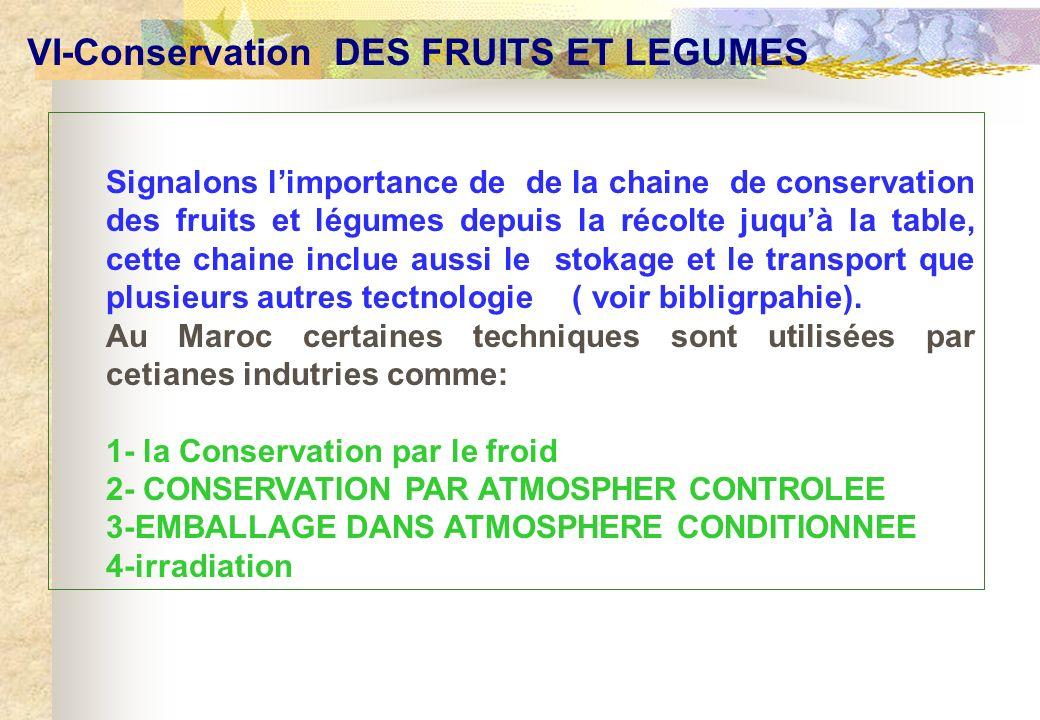 VI-Conservation DES FRUITS ET LEGUMES