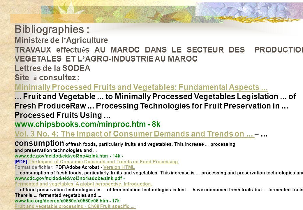 Bibliographies : Ministère de l'Agriculture