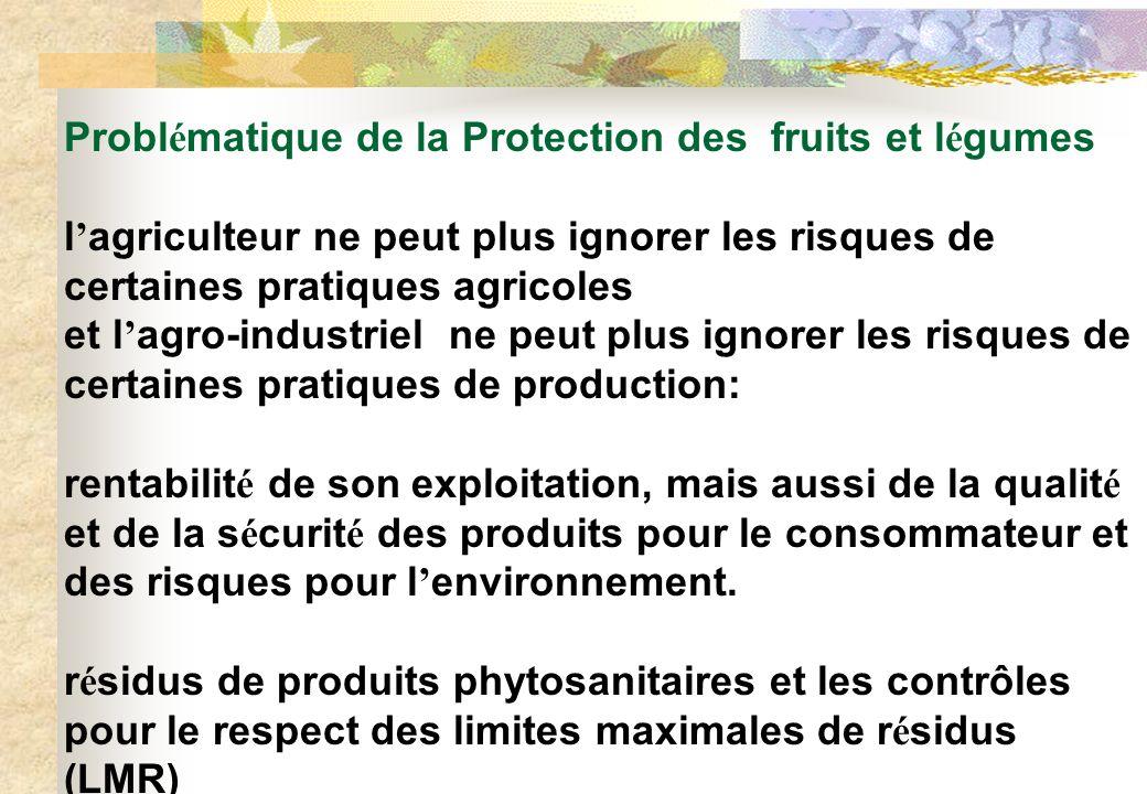 Problématique de la Protection des fruits et légumes