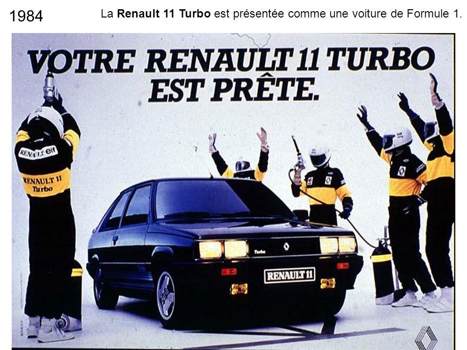 1984 La Renault 11 Turbo est présentée comme une voiture de Formule 1.