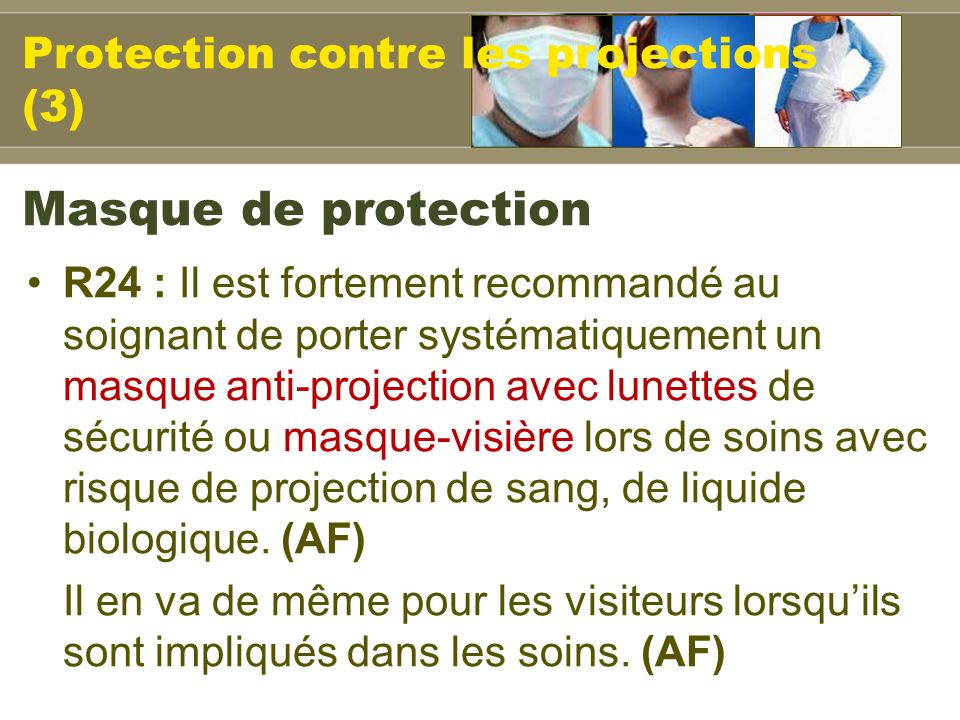 Masque de protection Protection contre les projections (3)