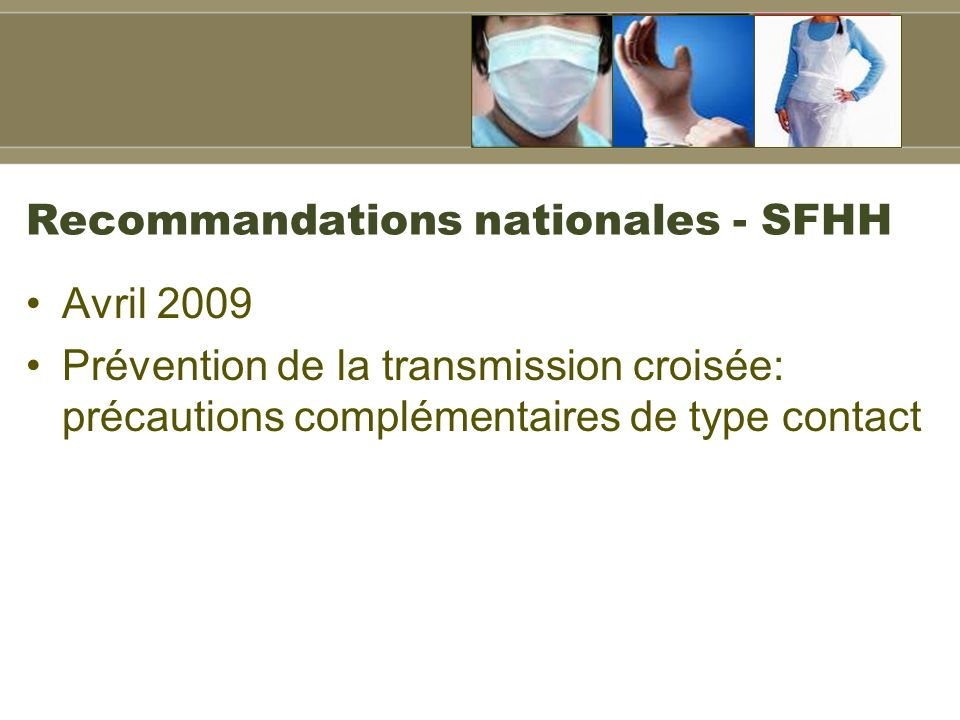 Recommandations nationales - SFHH