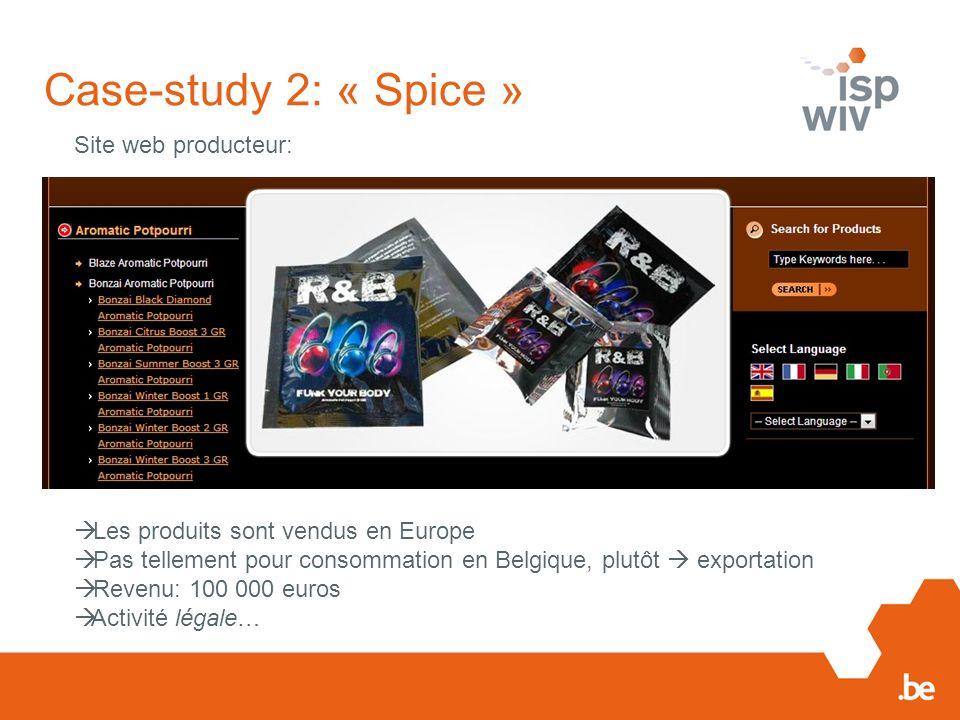 Case-study 2: « Spice » Site web producteur: