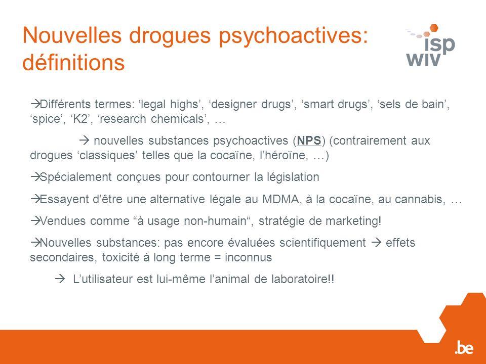 Nouvelles drogues psychoactives: définitions