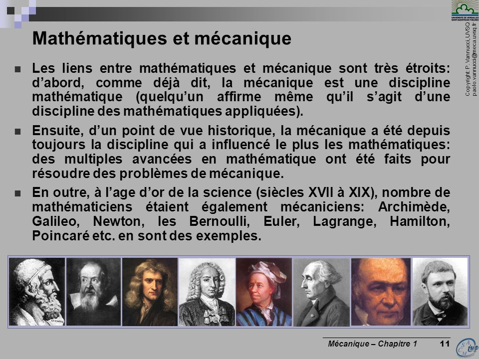 Mathématiques et mécanique