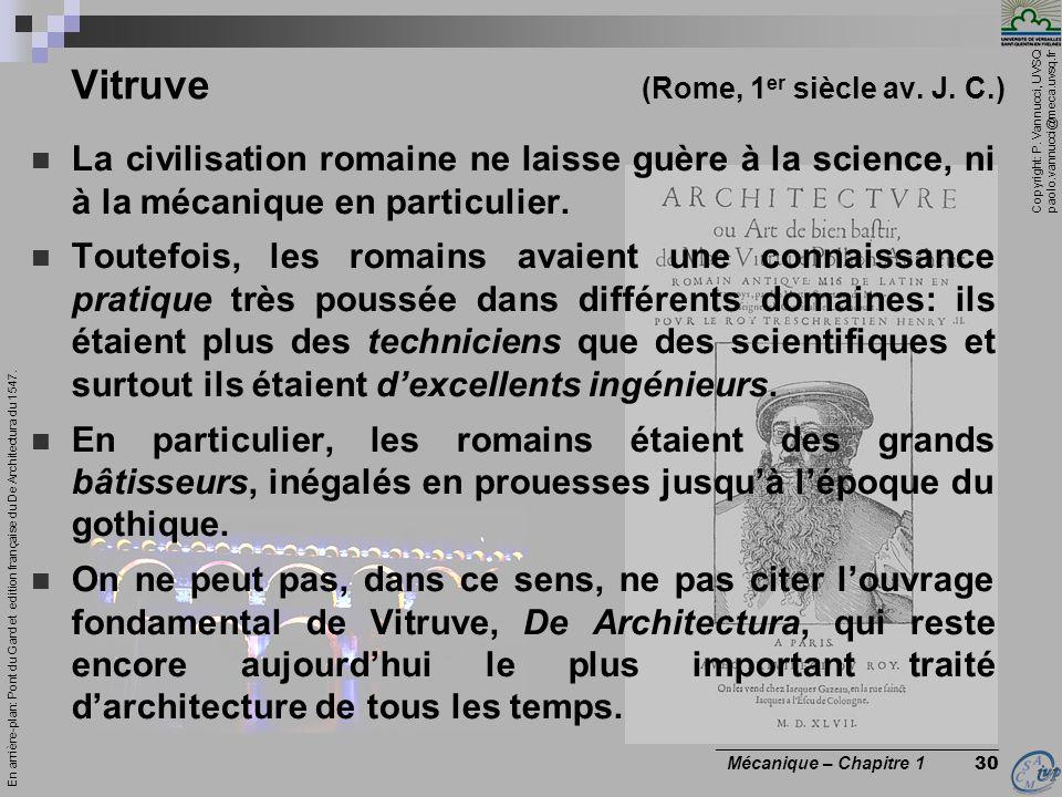 Vitruve (Rome, 1er siècle av. J. C.)