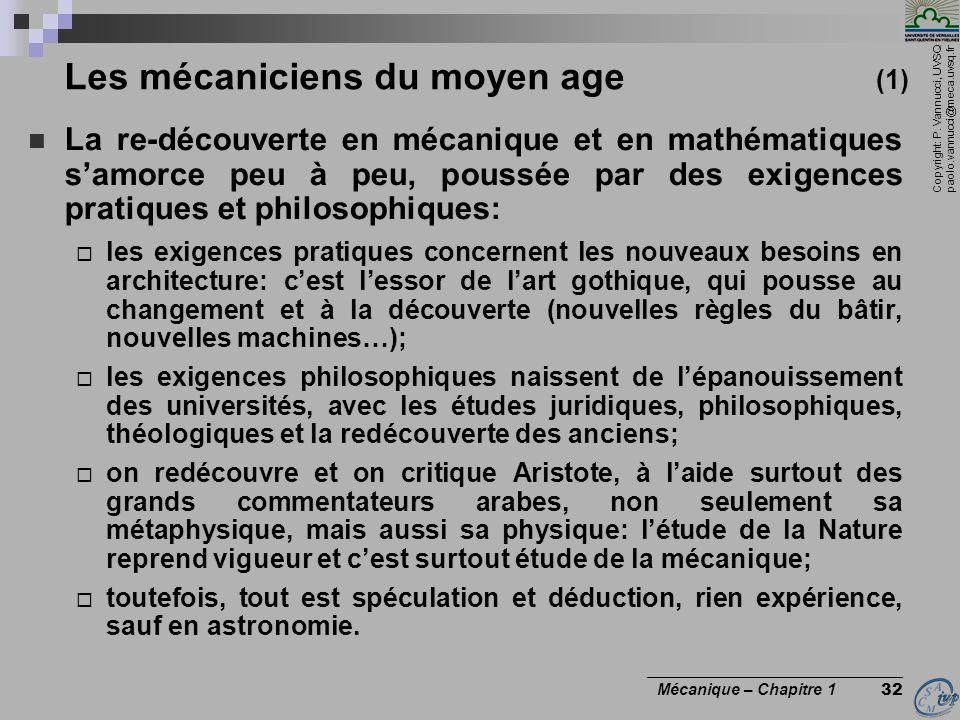 Les mécaniciens du moyen age (1)