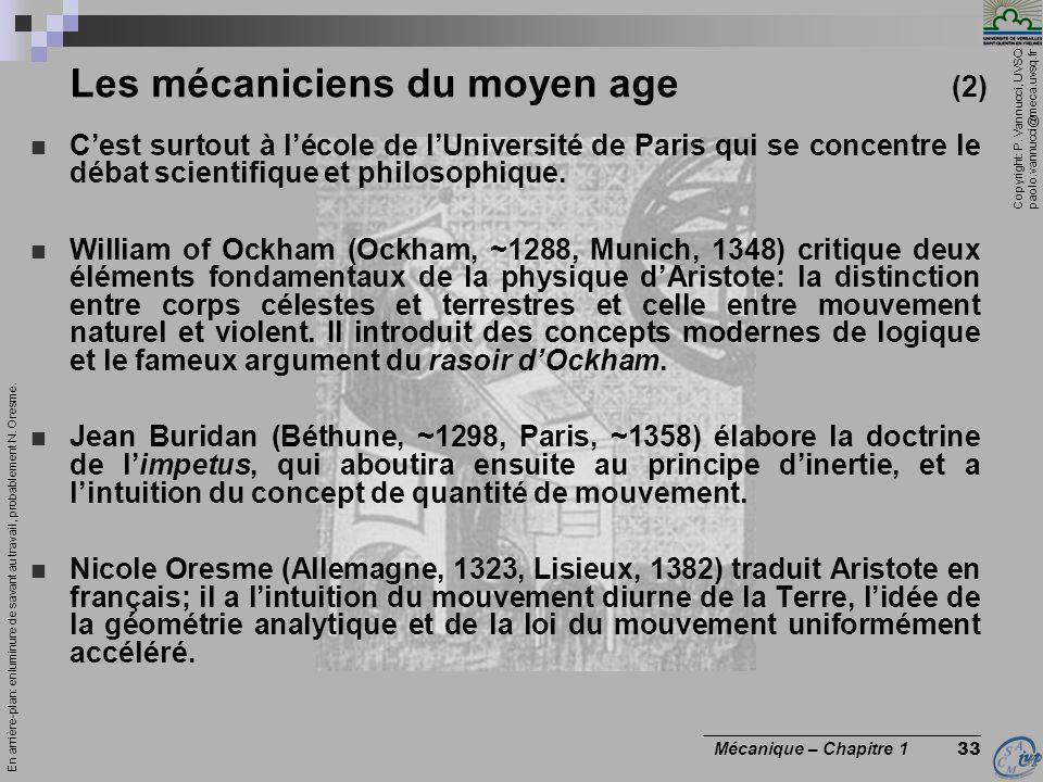 Les mécaniciens du moyen age (2)