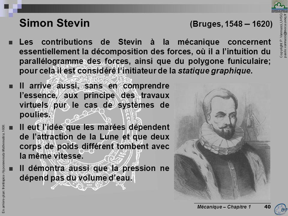 Simon Stevin (Bruges, 1548 – 1620)
